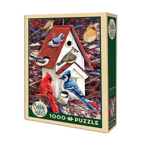 Winter Birdhouse 1000 Piece Puzzle