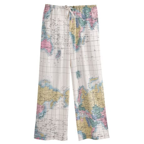 World Map Pajama Capris