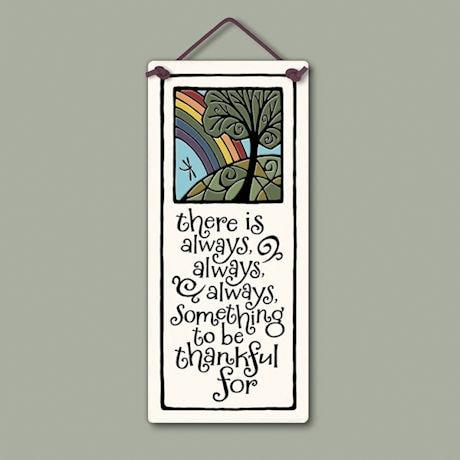 Always Thankful Ceramic Plaque
