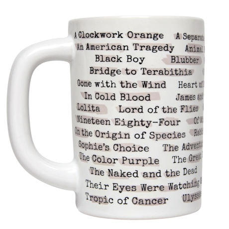 Banned Books Heat-Reactive Reveal Mug
