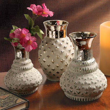 Whitewashed Bud Vases Set