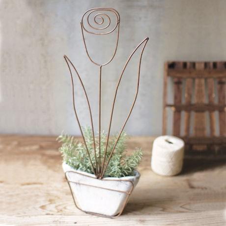 Wire Tulip Pot