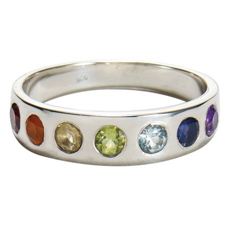 Sterling Silver Rainbow Ring