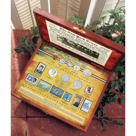 New York Times 50Th Anniversary Of JFK's Inauguration Coin And Stamp Collection Boxed Set