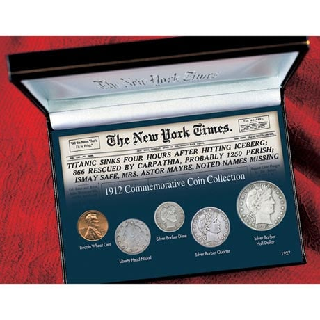 New York Times Titanic 1912 Commemorative Coin Collection