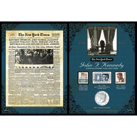 The New York Times JFK Coin & Stamp Collection