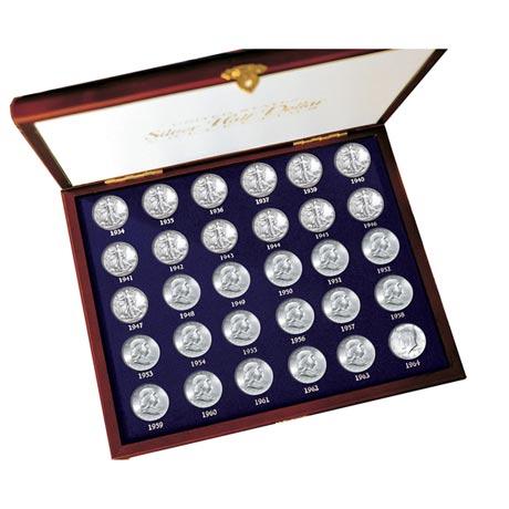 30 Years Of Us Mint Half Dollars Each Struck Of .900 Fine Silver