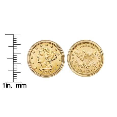 $2.50 Liberty Gold Piece Quarter Eagle Coin Cuff Links