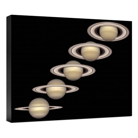 Hubble Image Canvas Print: Saturn From 1996 To 2000