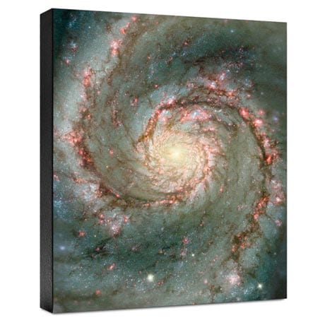 Hubble Image Canvas Print: The Heart Of The Whirlpool Galaxy