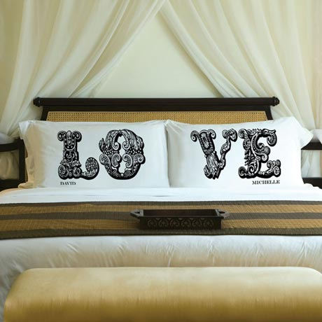 Couples Personalized Love Connection Pillow Case Sets