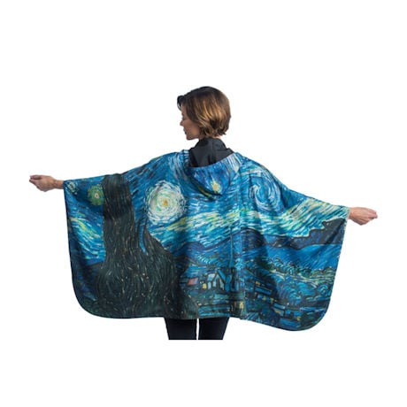 Van Gogh Starry Night Reversible Rain Cape