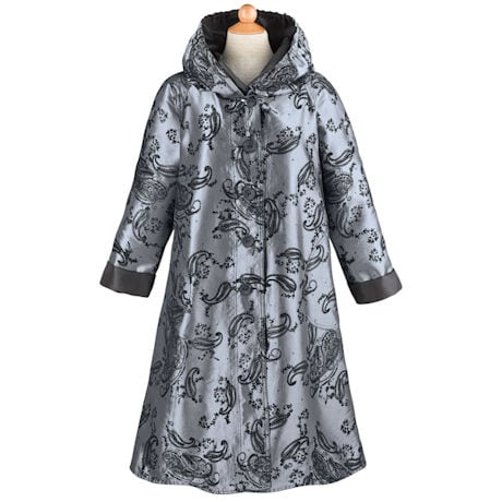 Reversible Flocked Paisley Raincoat