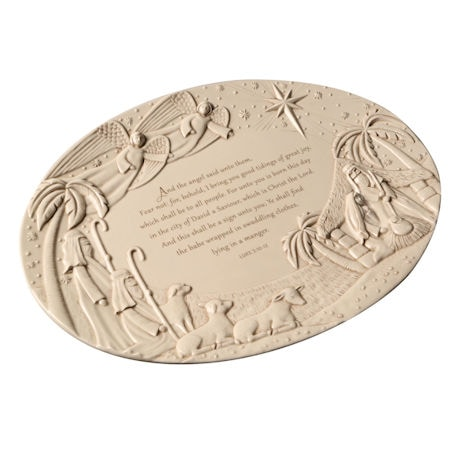 Luke 2:10-12 Nativity Platter