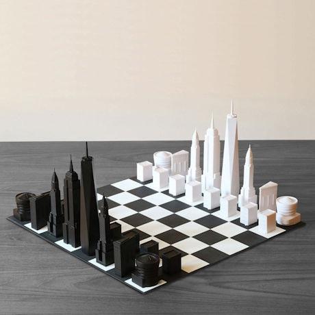New York Skyline Chess Set