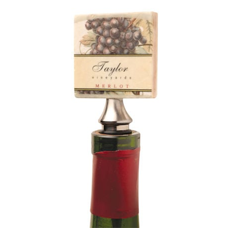 Personalized Tumbled Marble Wine Bottle Stopper