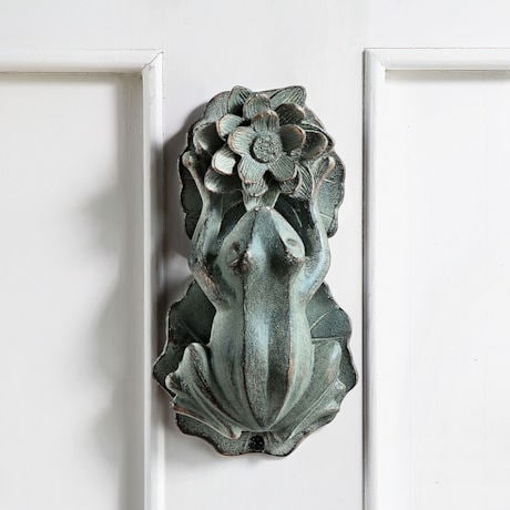 Frog and Flower Doorknocker