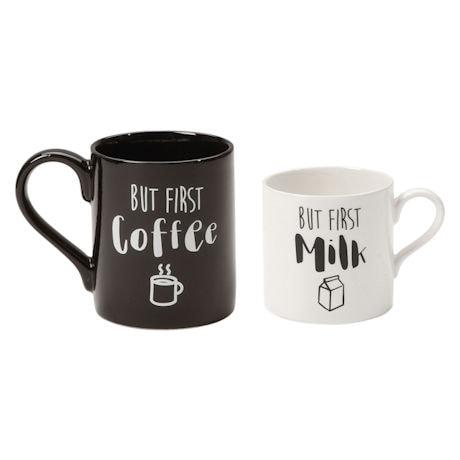 But First Coffee, But First Milk Mugs Set