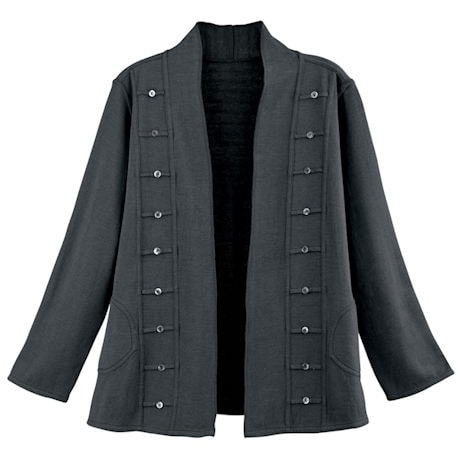 Reversible Military Open-Front Jacket