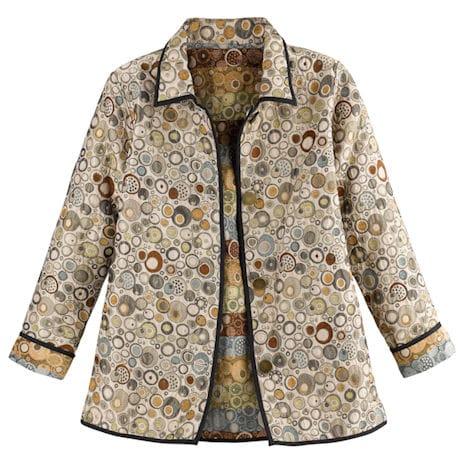 Reversible Gallery Print Jacquard Jacket