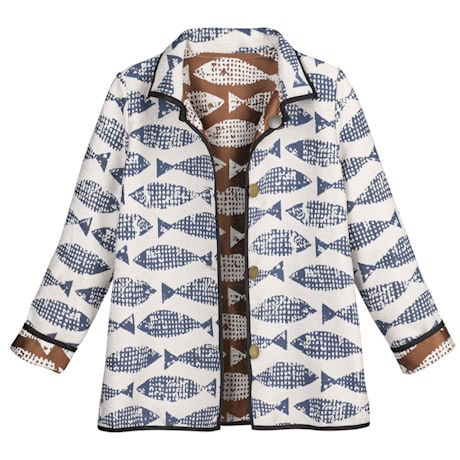 Reversible Fish Jacquard Jacket
