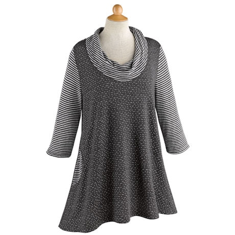 Spots and Stripes Knitted Tunic