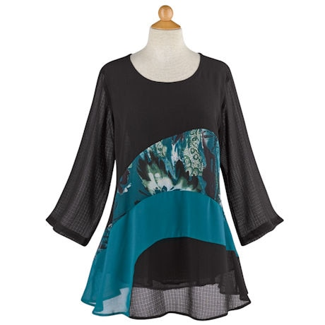 Teal Splash Tunic