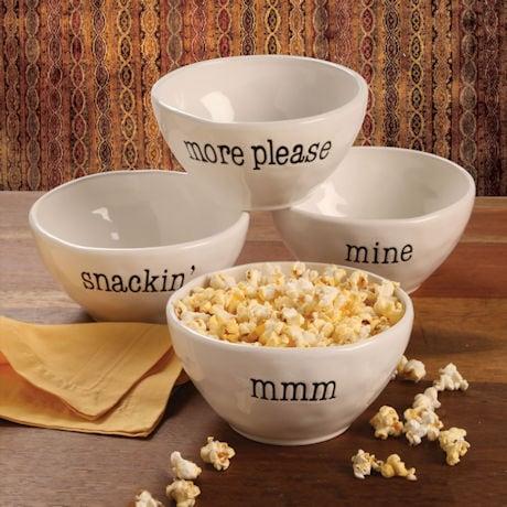 Just Words Snack Bowls Set