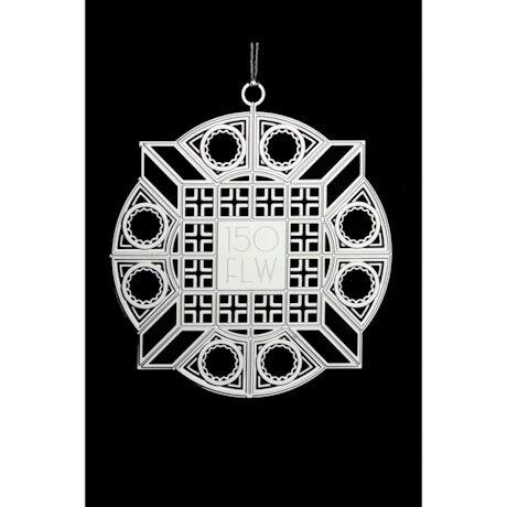 Frank Lloyd Wright 150th Anniversary Luxfer Ornament