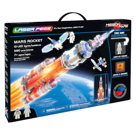 Mars Rocket Laser Pegs Building Set