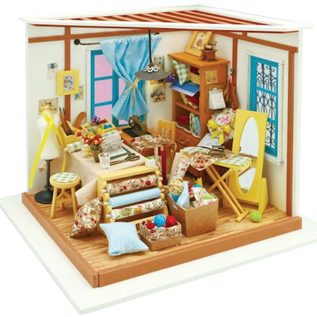 DIY Miniature Sewing / Quilting Room Kit