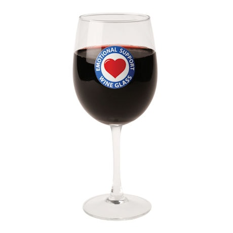 Emotional Support Wine Glass