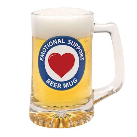 Emotional Support Beer Mug
