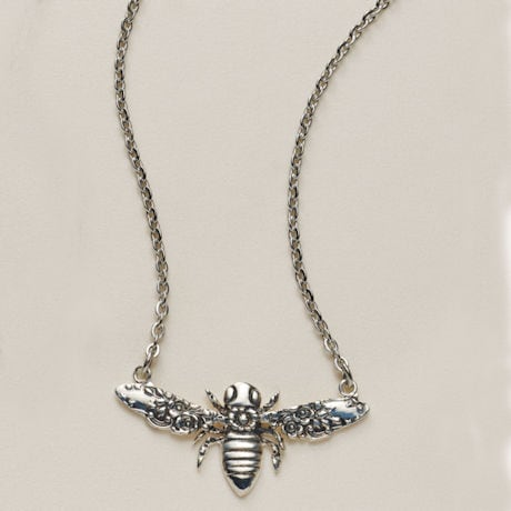Silver Spoon Bee Necklaces