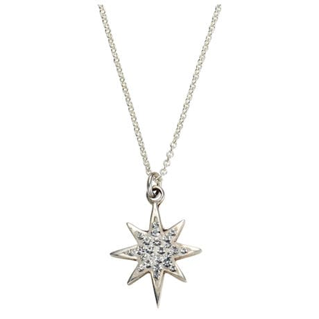 Christmas Tree Crystal and Pearl Earrings & Pendant Card