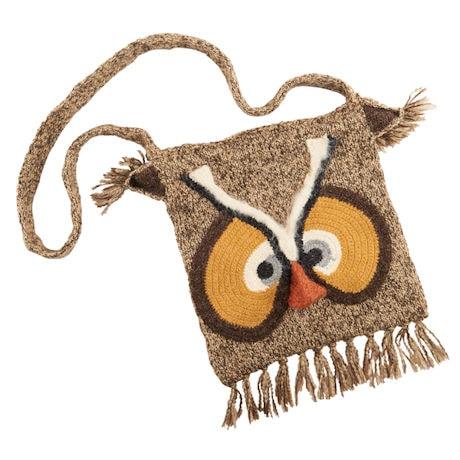Hand-Knit Owl Handbag