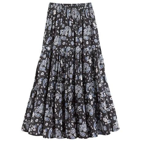 Paisley Reversible Broomstick Skirt