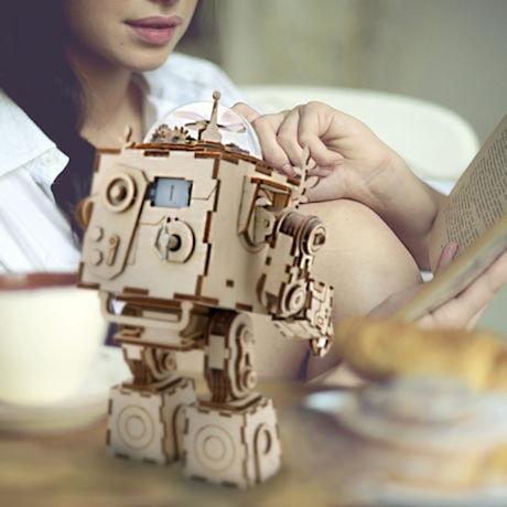 Orpheus the Robot Wooden Mechanical Puzzle Kit