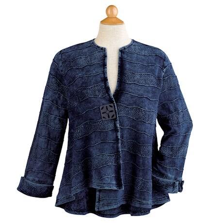 Denim Blue Waves Jacket