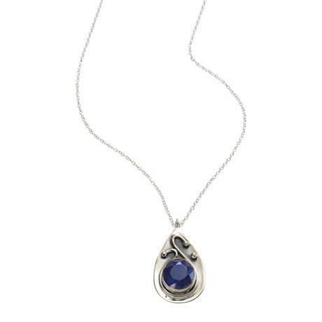 Ruby & Sapphire Swirl Necklace