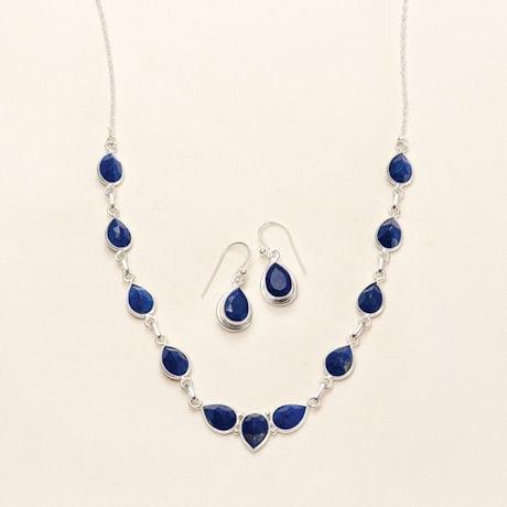 Blue Lapis Teardrop Necklace