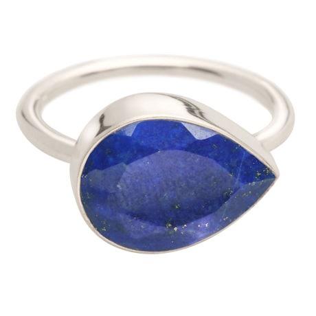Blue Lapis Teardrop Ring