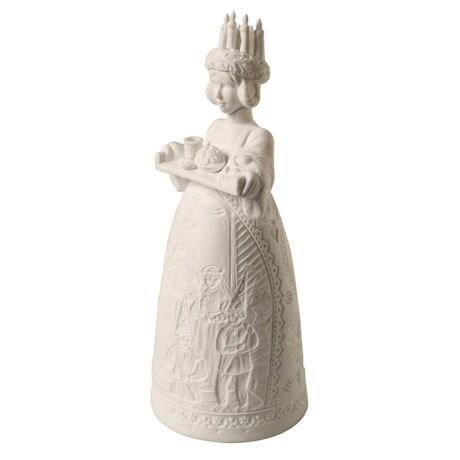 Lighted Porcelain Santa Lucia