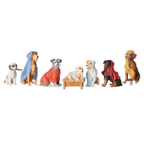 Doggy Nativity Scene - 7 Piece Set