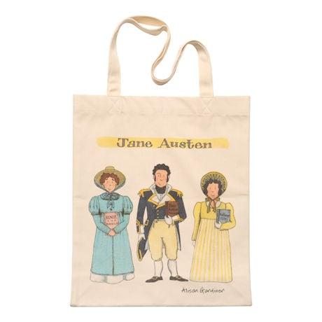 Jane Austen Famous Characters Tote Bag