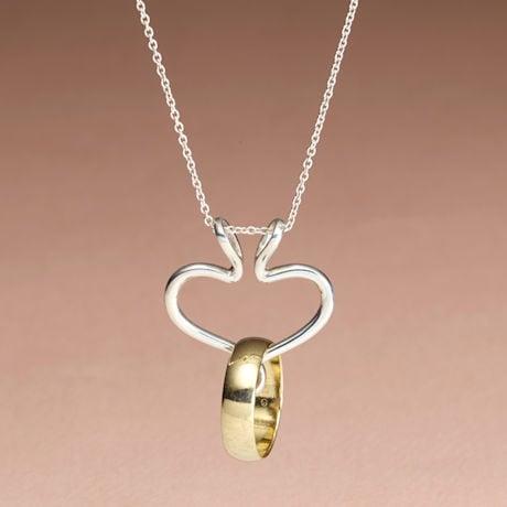 Sterling Silver Ring Holder Necklace
