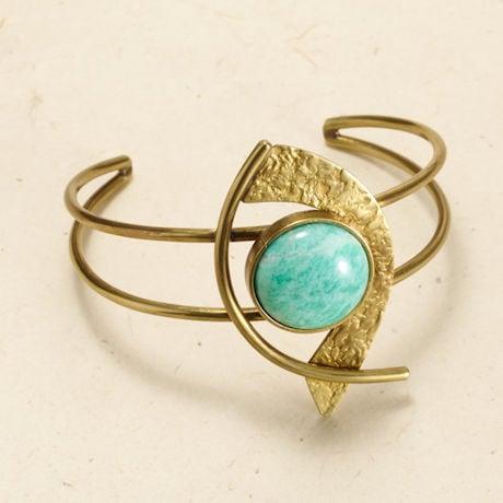 Amazonite Cabochons Bracelet