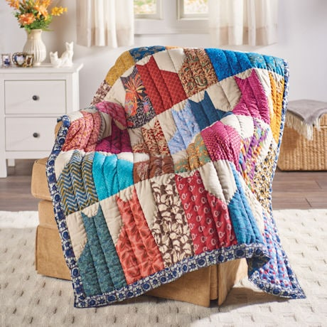 Cats Quilted Throw Blanket