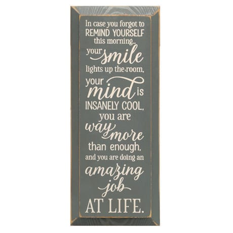 In Case You Forgot Inspirational Wood Plaque