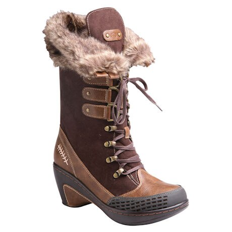 Nordic Fur-Lined Tall Boot